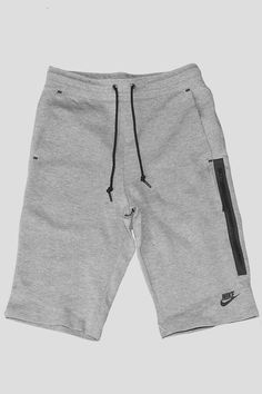 Nike womens tech fleece short carbon heather black