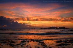 Sunset at Yellowcraigs, Scotland by Karen McDonald on 500px
