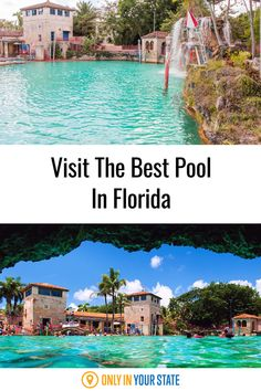 Visit the best and most beautiful pool in Florida. It offers waterfalls, caves, and grottoes! Find the historic swimming hole in Coral Gables. Florida Home, South Florida, Pool Drawing, Beautiful Pools, Main Attraction, Swimming Holes, Coral Gables, Sunshine State, Cool Pools