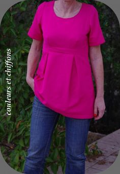 patron couture grande taille gratuit télécharger 15 Fashion Sewing, Diy Fashion, Sewing Online, Diy Tops, Couture Sewing, Couture Tops, Sewing Patterns Free, Pattern Sewing, African Dress