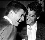 Jerry Lewis and Dean Martin laughing