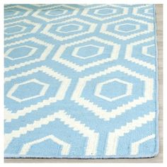 Taza Dhurry Rug - Blue/Ivory - (8'x8' Square) - Safavieh, Durable