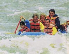 July 17, 1995: Princess Diana with Prince William and Prince Harry white river rafting in Glenwood Springs, Colorado.