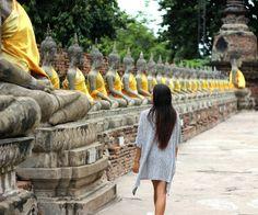 Wat Yai Chai Mongkol boeddhas. Thailand, Ayutthaya- Travelhype