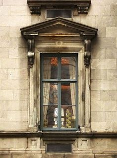 Lovely #French #window with beautiful architectural #details