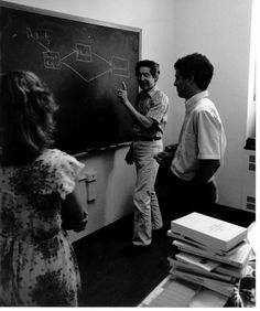 Larry Mohr teaches a class in the program that would later become known as the Gerald R. Ford School of Public Policy