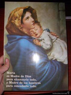 Lamina religiosa de la Virgen María 30 cm x 21 cm