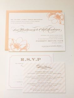 Magnolia Wedding Invitation Southern Wedding