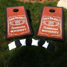 Jack Daniels custom made Cornhole boards. $350.00, via Etsy.