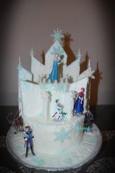 'Frozen' movie themed birthday cake
