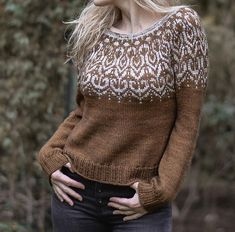Ravelry: Wildwood Sweater pattern by Heidi May Crochet Patterns For Beginners, Knitting Patterns, Sweater Patterns, Heidi May, Velvet Acorn, Knit Crochet, Crochet Hats, Fair Isle Knitting, Stockinette