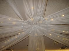 Twinkle light ceiling treatment