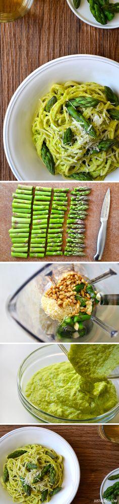 Cheesy Asparagus Pesto Pasta