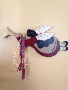 CHRISTMAS CLEARANCEPrimitive Christmas Angel by VintageTrimmings, $15.00