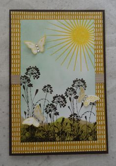 Carte Stampin'Up - serene silhouette