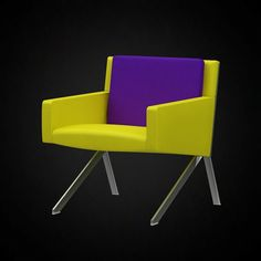 B and B Italia Theo Armchair - 3D furniture model - Use PROMO CODE: pin3d and get 20% off - $11.00