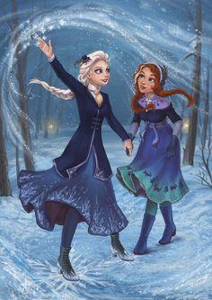 Disney Princess Frozen, Disney Princess Pictures, Disney Fan Art, Disney Love, Disney And Dreamworks, Disney Pixar, Couple Disney, Frozen Fan Art, Modern Disney