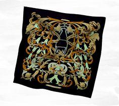 Hermès Black Silk Twill