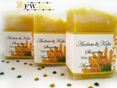 10+Vegan+Soap+Bar+Favors+/+/+Yellow+Sunflower+by+JoyFilledWeddings,+$20.00