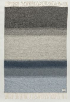 Shades Landscape Wool Blanket - Grey/Blue (1052) - Wool Blanket - Shop Icelandic Products