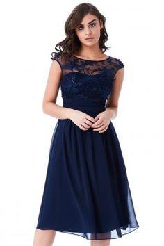Luxusní společenské šaty Floretta II tmavě modré e35af10d33