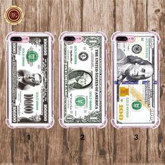 WR US Dollar Series Protective Cell Phone Cases Cover for Iphone 5 6s 6plus 7 7P