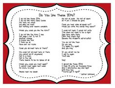 Dr Seuss IEP poem