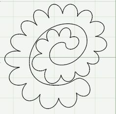 template for roses, curl each petal and then roll up