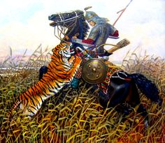 Mongol warrior on the hunt