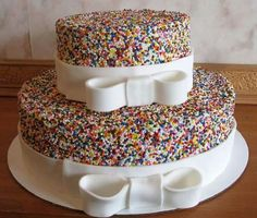 Hundreds and thousands cake