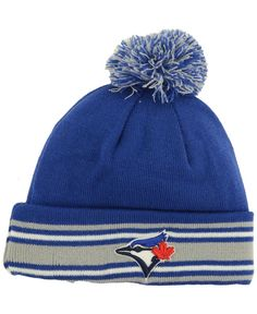 d2a38e9cee1 New Era Toronto Blue Jays MLB AC Knit Hat Men - Sports Fan Shop By Lids -  Macy s