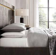 RH's Heathered Cotton-Cashmere Duvet Cover:FREE SHIPPINGCotton reaches a new level of luxury in our bedding collection. Loomed…