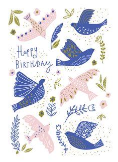 Leading Illustration & Publishing Agency based in London, New York & Marbella. Happy Birthday Animals, Happy Birthday Wishes Cards, Cool Birthday Cards, Art Birthday, Happy Birthday Images, Birthday Messages, Birthday Greeting Cards, Sister Birthday, Birthday Quotes