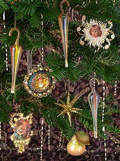 Christmas Shop: Antique Fadenglas Umbrella Christmas Ornament on Blumchen.com