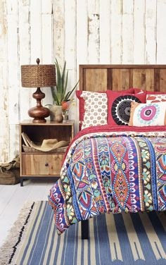 bright bold Bohemian patterns from Mudhut into your room décor to wake up excited and relaxed
