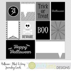 Halloween Black & Gray Grey Digital by PluckyLimeDesigns on Etsy