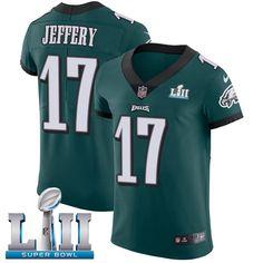 Nike Eagles #17 Alshon Jeffery Midnight Green Team Color Super Bowl LII Men's Stitched NFL Vapor Untouchable Elite Jersey
