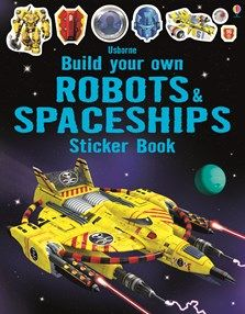 Budding engineers will love this technical book, which is like a construction toy in sticker book form. Use the stickers to add laser cannons, stun guns a Monster Stickers, Truck Stickers, Puzzle Pad, Space Books For Kids, Build Your Own Robot, Space Theme, Book Nooks, Book Activities, Activity Books