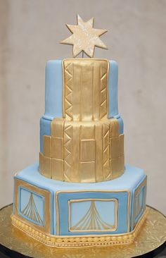 art deco cake | Bethany Boone Photography