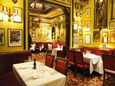 @Melissa Ba & @Thomasina Metts Rule's - London's oldest restaurant (since 1798).  It serves traditional British food, specialising in classic game cookery, oysters, pies and puddings.