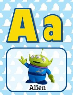 Brighten up your classroom with the alphabet as show in toy story images! Also print 4 to a page for custom alphabet flash cards! Kindergarten Classroom, Kindergarten Activities, Classroom Themes, Toy Story Crafts, Movie Crafts, Alphabet Cards, Alphabet Posters, Toy Story Theme, Library Inspiration
