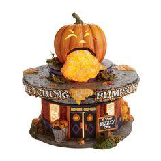 Amazon.com: Halloween Snow Village from Department 56 Retching Pumpkin Diner: Home & Kitchen