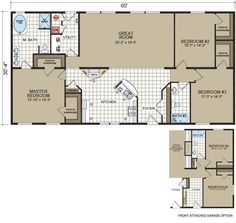 Mobile homes Floor plans and Home floor plans on Pinterest