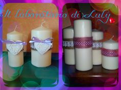 Le mie adorate  Candele shabby!
