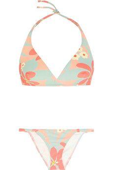 fc1842447d0 Eres + LHD printed triangle bikini Mint Bikini
