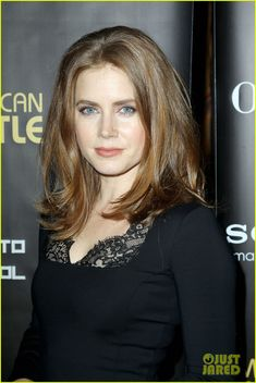 Amy Adams hair...maybe parted on the side instead. Love the cut and length.