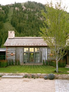great cabin/barn look with wonderful windows