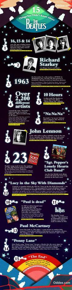 >>> Infografía: 15 Datos interesantes sobre The Beatles.