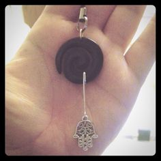 Spiral hamsa charm Handcrafted by me. Can be put on a necklace as well. Jewelry Necklaces