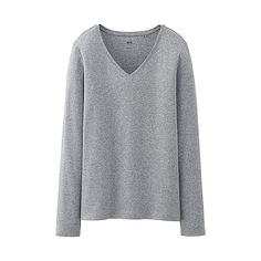 WOMEN Supima Cotton V-Neck Long Sleeve T-Shirt